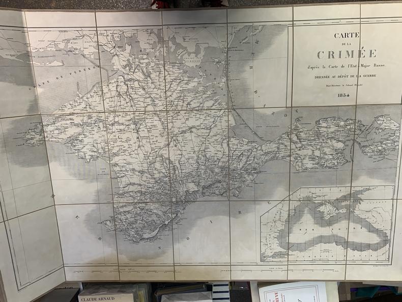 Carte de la Crimée d'après la Carte de l'Etat-Major Russe. Dressée au dépôt de la guerre, étant directeur le Colonel Blondel . BLONDEL Colonel
