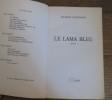 Le lama bleu  . LANZMANN Jacques