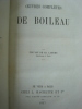 Oeuvres complètes de Boileau. Boileau