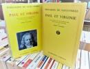 -Paul et Virginie texte établi avec une introduction des notes et des variantes par Pierre TRAHARD. BERNARDIN DE SAINT-PIERRE