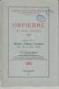 Orpierre et son canton Histoire d la Baronnie d'Orpierre-Trescléoux. Anonyme