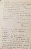 L.A.S. adressée à Michel Carrouges. Sans lieu, 19 juin 1950. 3p. grand in-8.. QUENEAU Raymond