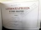 AUVERGNE LITHOGRAPHIE de l'époque romantique. TALBOT et J. ARCHIMBAUD