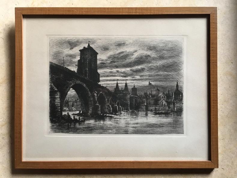Pont de la Guillotiére à Lyon. DREVET Joanny