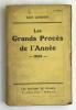 Les Grands Procès de l'Année. 1934. LONDON Geo