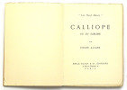 Calliope ou du sublime. ALLARD Roger