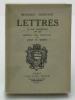 Lettres à sa famille (1775 – 1830). CONSTANT Benjamin