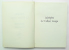 Adolphe – Le Cahier Rouge. CONSTANT Benjamin