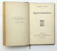 Approximations . DU BOS Charles