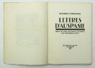 Lettres d'Auspasie. DUHAMEL Georges