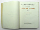 Oeuvres complètes illustrées, Tome VI : La Vie Littéraire première et deuxième série. FRANCE Anatole