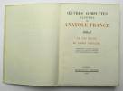Oeuvres complètes illustrées, Tome IX : Le Lys rouge – Le Jardin d'Épicure. FRANCE Anatole