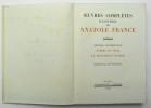 Oeuvres complètes illustrées, Tome XI : L'Orme du mail – Le Mannequin d'osier. FRANCE Anatole