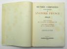 Oeuvres complètes illustrées, Tome XIX : Les contes de Jacques Tournebroche – Les sept femmes de la Barbe-Bleue. FRANCE Anatole