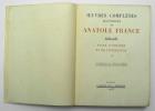 Oeuvres complètes illustrées, Tome XXV : Pages d'histoire et de littérature II. FRANCE Anatole