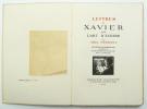 Lettres à Xavier sur l'art d'écrire. HERMANT Abel