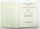 Oeuvres complètes illustrées. Tome X : Le Puits de Sainte Claire – Pierre Nozière. FRANCE Anatole