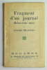 Fragments d'un Journal. MAUROIS André