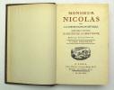 Monsieur Nicolas ou le cœur humain dévoilé. BRETONNE Restif de la